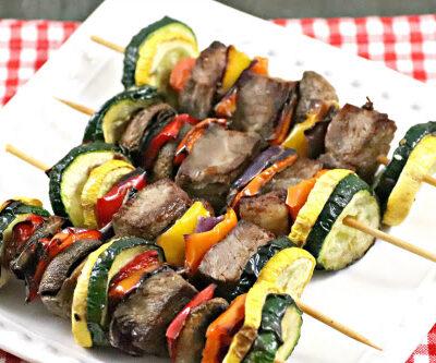 Air Fryer or Ninja Foodi Steak Kabobs