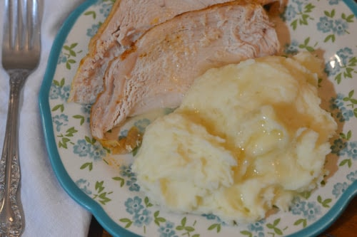 Instant Pot or Ninja Foodi Frozen Turkey Breast & Mashed Potatoes