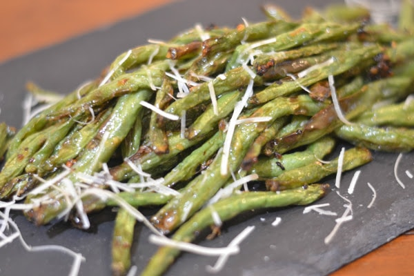 Ninja Foodi or Air Fryer Garlic Butter Green Beans