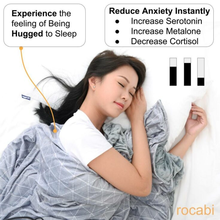 Luxury Weighted Blanket for Adults by rocabi