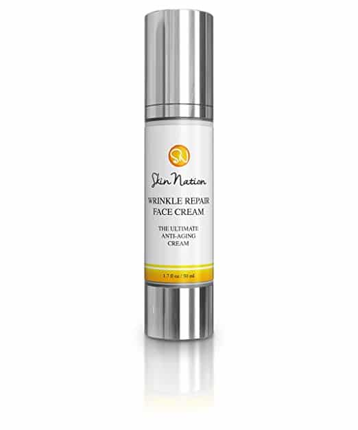 Wrinkle Repair Face Cream | Anti Wrinkle Facial Moisturizer with Glycolic Acid | with Organic Natural Ingredients - Aloe Vera, Vitamin E, Coconut Oil, Shea Butter | Skin Nation by Michelle Stafford