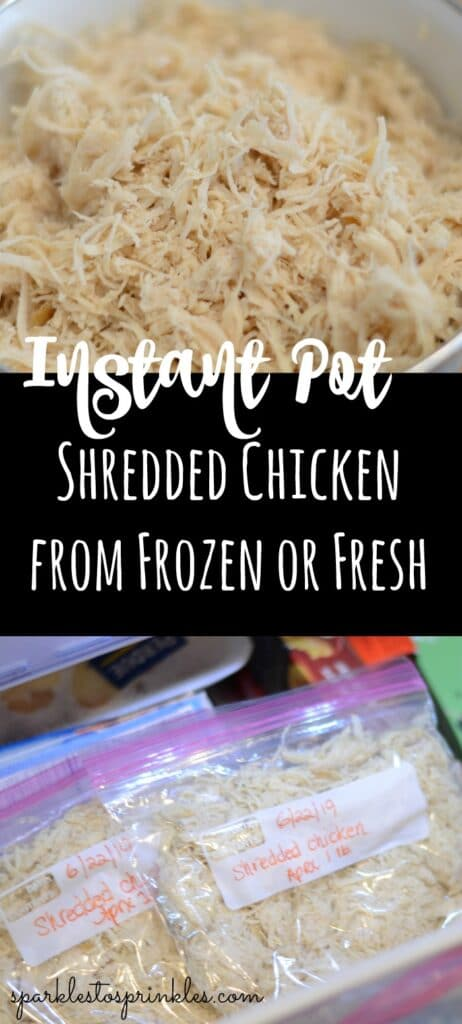 Instant Pot Shredded Chicken From Frozen or Fresh