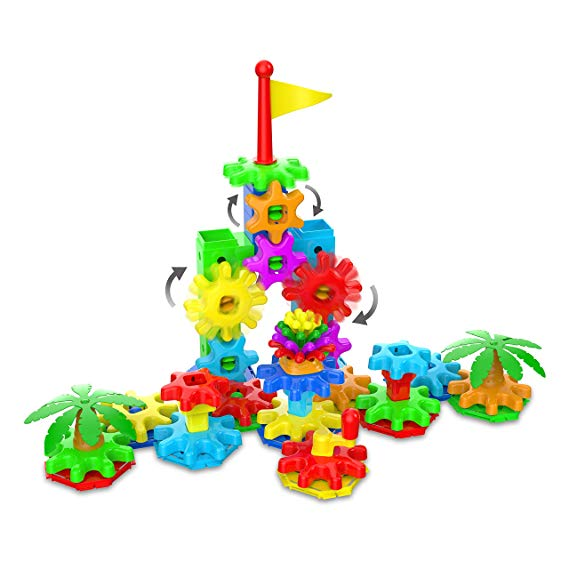The Learning Journey Techno Kids – Stack & Spin Playland – STEM Toddler Toys & Gifts for Boys & Girls Ages 2+ Years – Mind Building Preschool Learning Toy