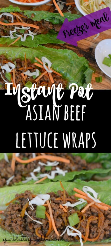 Instant Pot Asian Beef Lettuce Wraps