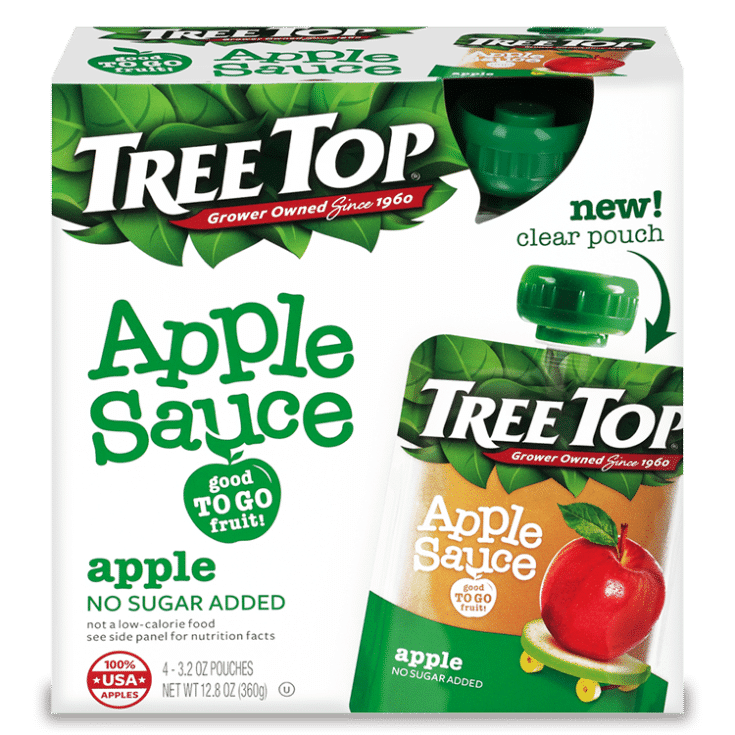 Tree Top No Sugar Added Apple Sauce Pouch 4 Pack