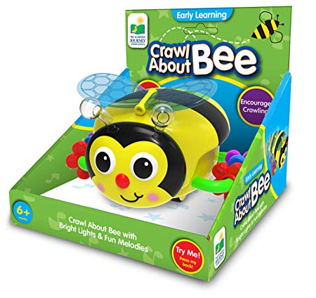 The Learning Journey Early Learning – Crawl About Bee Musical Crawling Aid – Baby Toys & Gifts for Boys & Girls Ages 6+ months