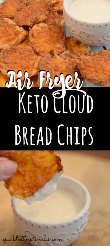 Air Fryer Keto Cloud Bread Chips
