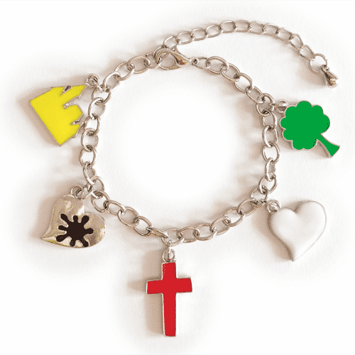 Christian Bracelets – Enamel Charms Salvation Bracelet