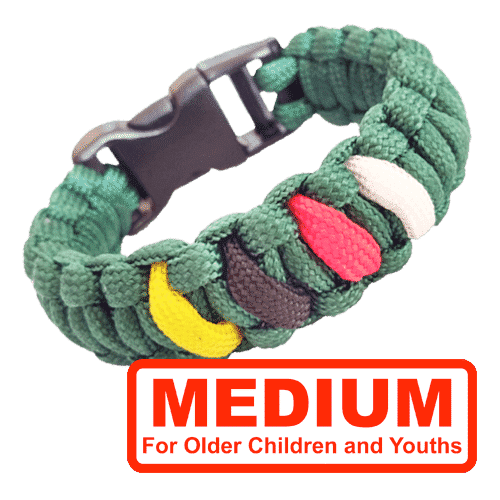 Boy's Christian Bracelet – Paracord Salvation Bracelet Medium