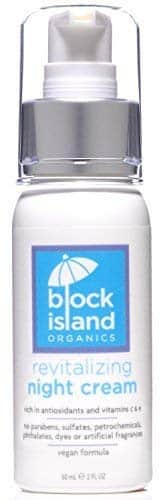 Block Island Organics Revitalizing Night Cream - Organic Anti-Aging Face Moisturizer with Natural Anti-Oxidants Vitamin C & E – EWG Top Rated - Sensitive Skin Care for Face, Eyes, and Neck - 2 OZ