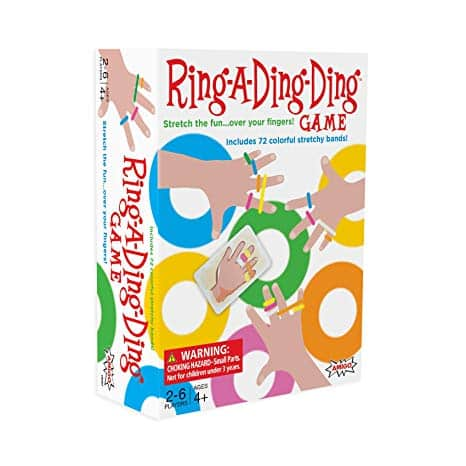 AMIGO Games Ring-A-Ding-Ding Kids Card Game with 72 Hair Ties