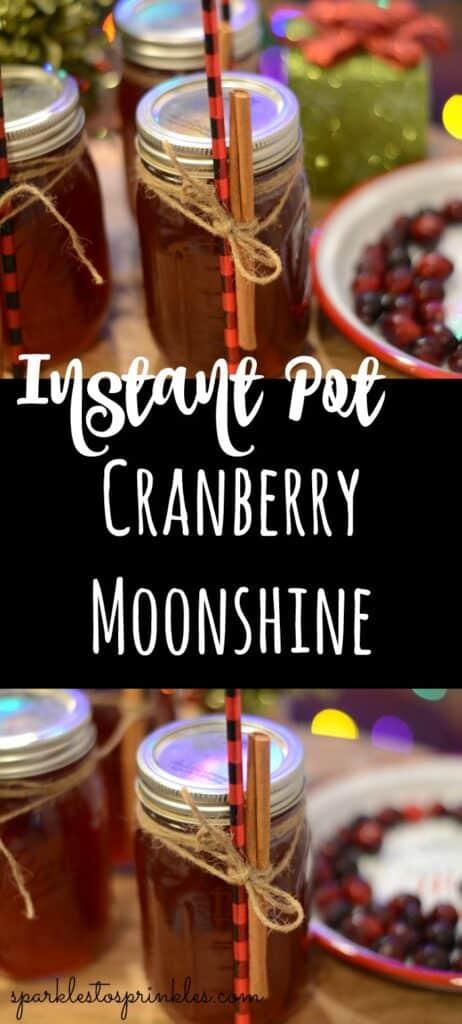 Instant Pot Cranberry Moonshine