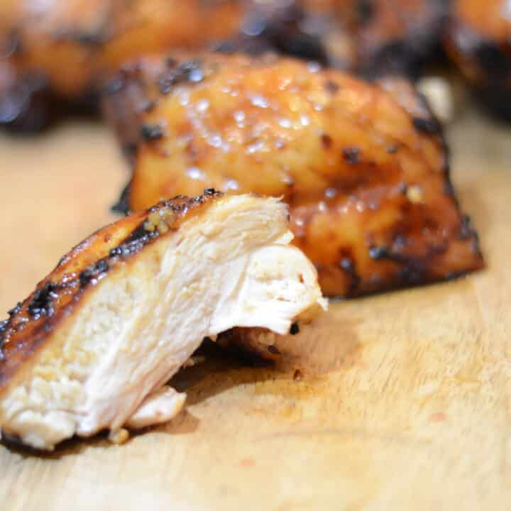 Ninja Foodi Grill Grilled Brown Sugar Glazed Chicken Thighs - Sparkles to  Sprinkles