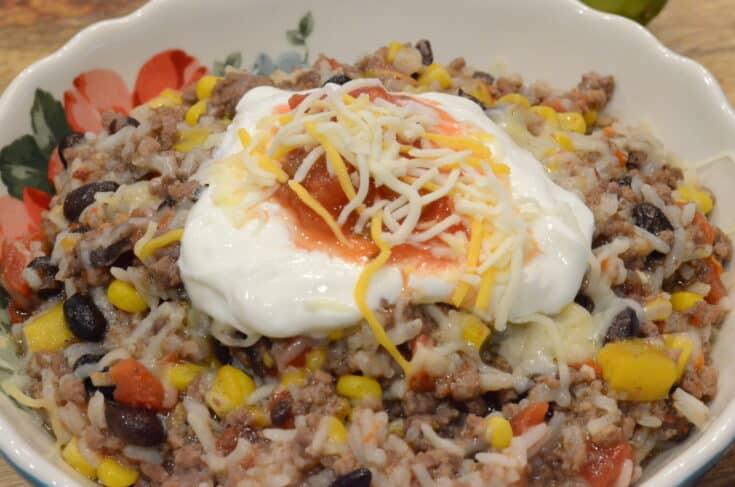 Instant Pot Beef Burrito Bowl