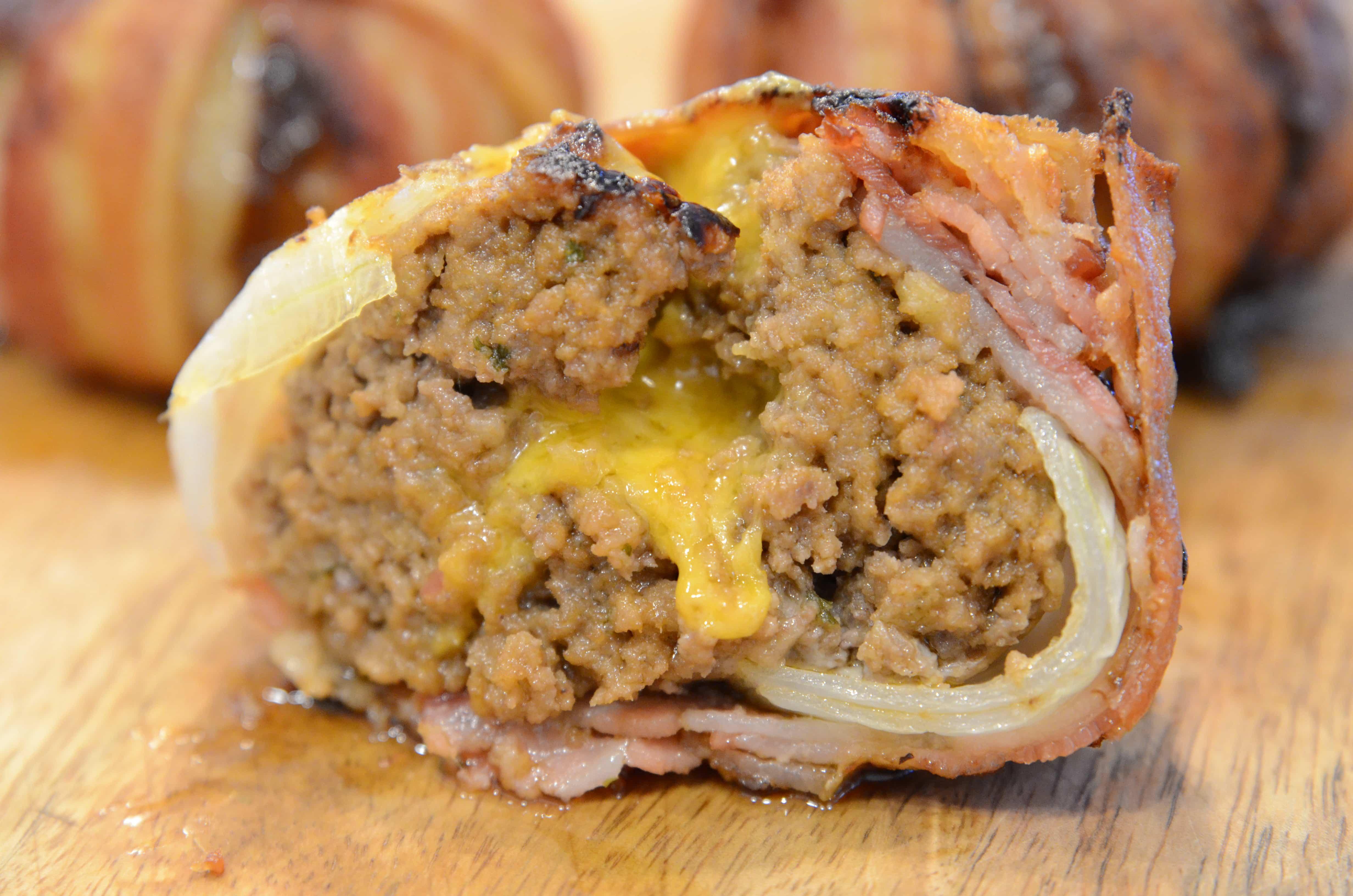 Air fryer Bacon Onion Bombs
