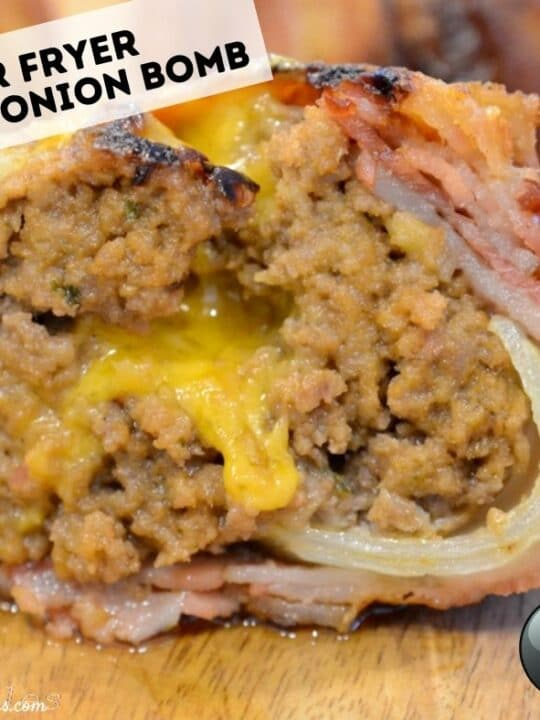air fryer bacon onion bomb