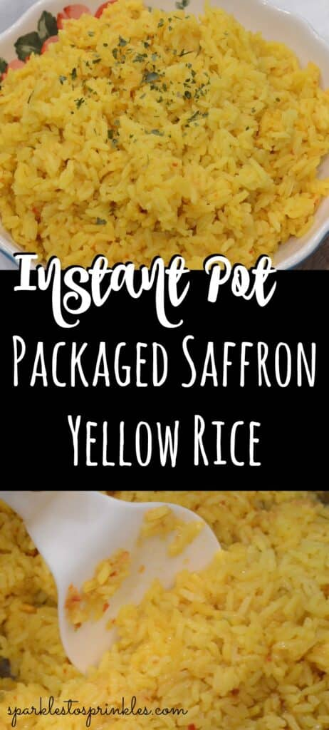 Instant Pot Packaged Saffron Yellow Rice