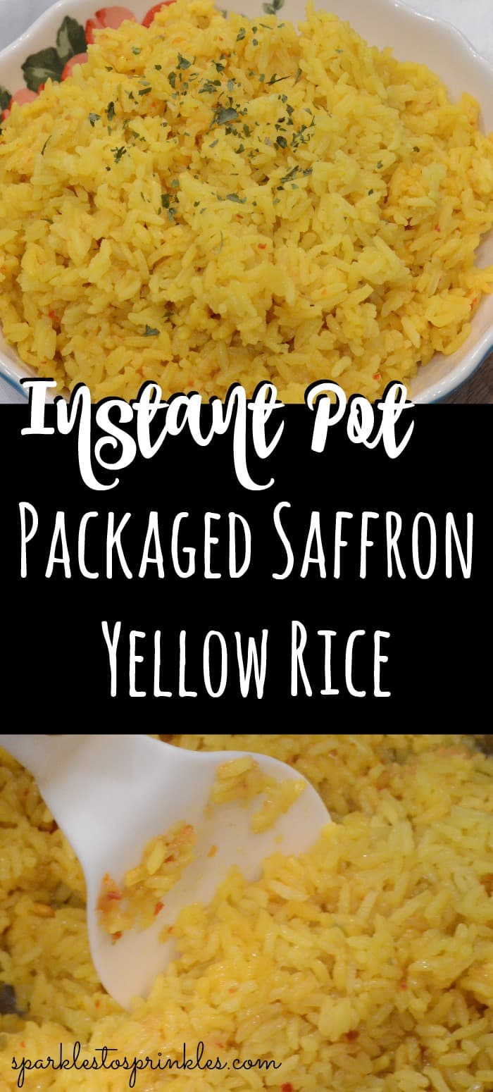 Instant Pot Packaged Saffron Yellow Rice Sparkles To Sprinkles
