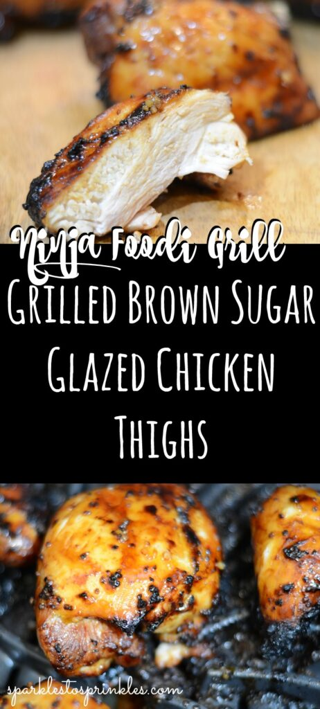 Ninja Foodi Grill Grilled Brown Sugar Glazed Chicken Thighs
