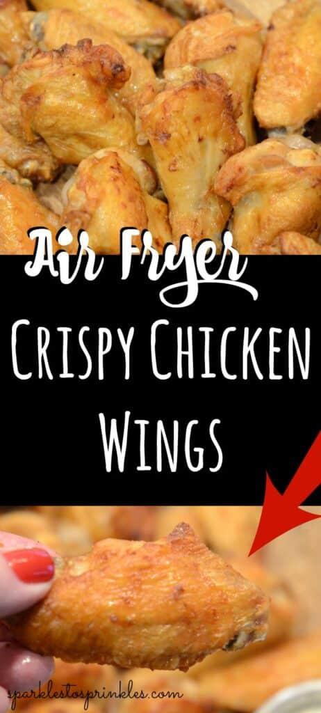air fryer crispy chicken wings pin