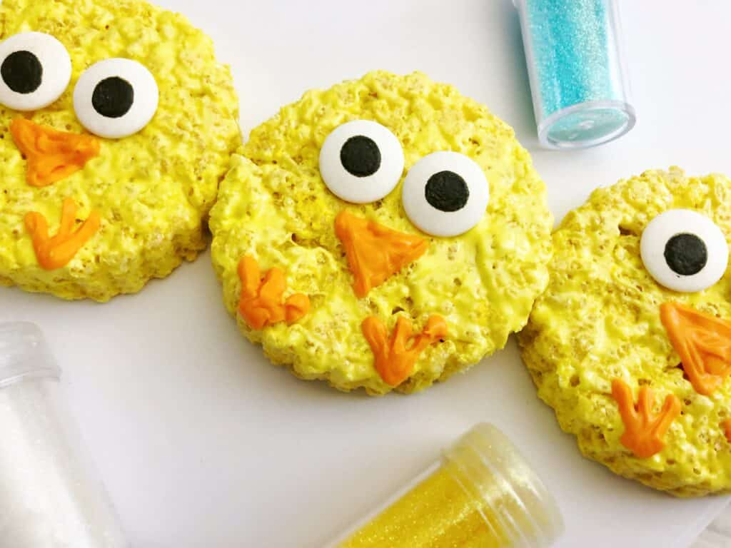easter chick rice krispie treats