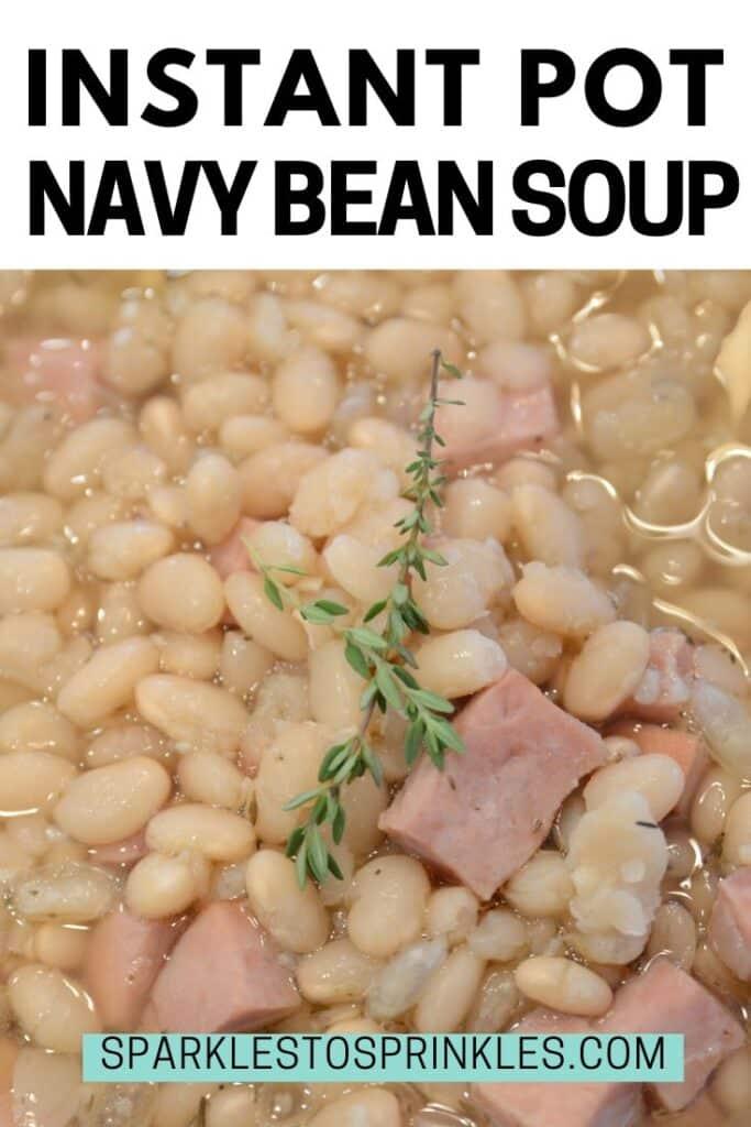 Instant Pot Navy Bean Soup