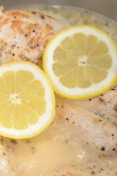 Instant Pot Lemon Garlic Chicken