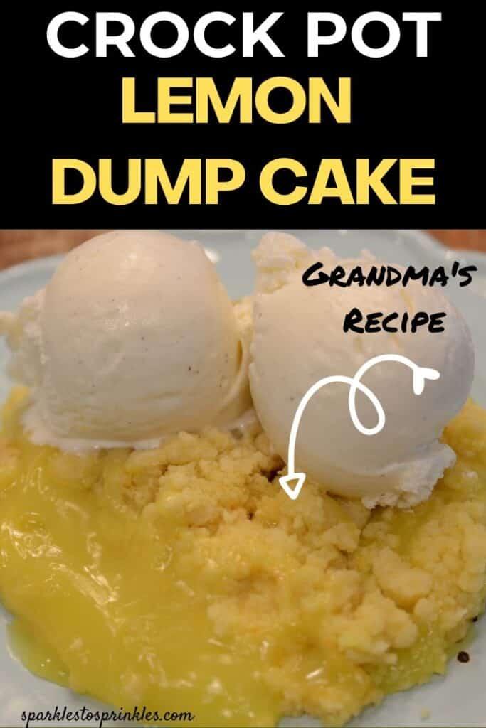Crock Pot Lemon Dump Cake