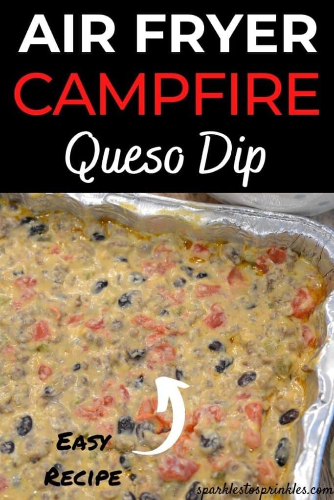 air fryer campfire queso dip