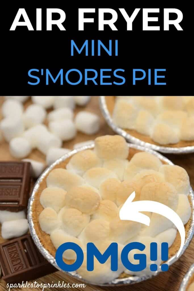 air fryer s'mores pie