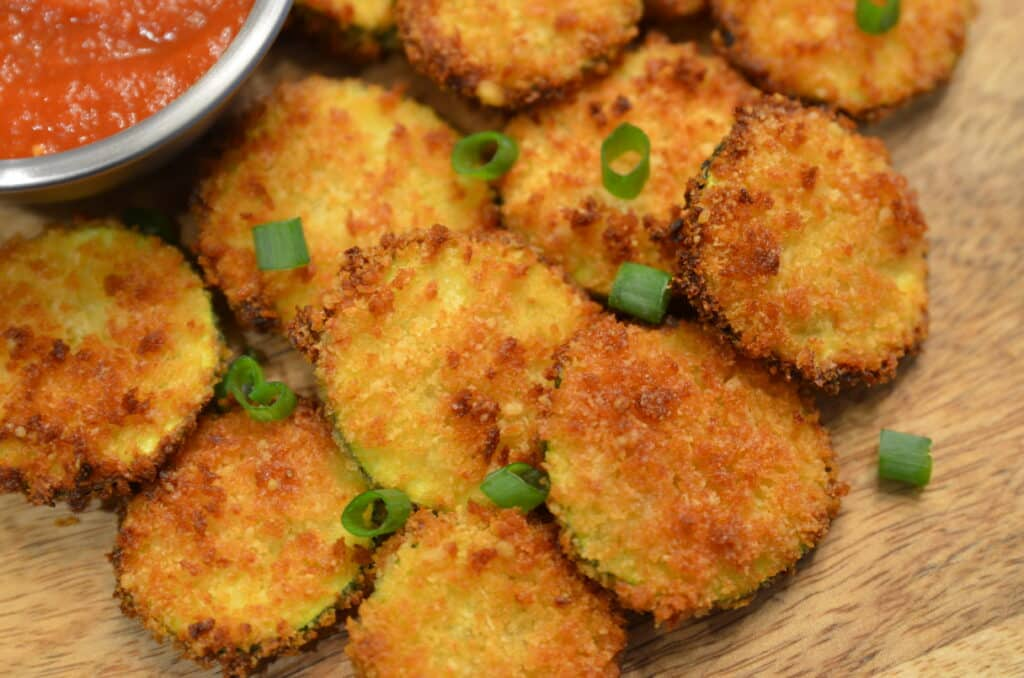 air fryer or ninja foodi zucchini chips