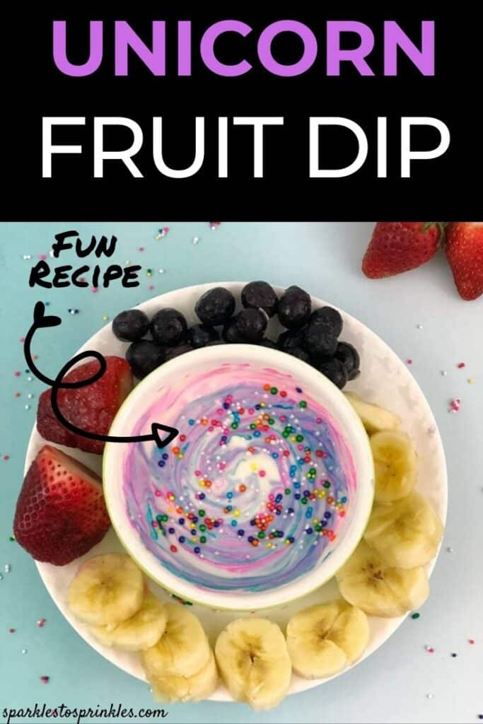 Unicorn Fruit Dip
