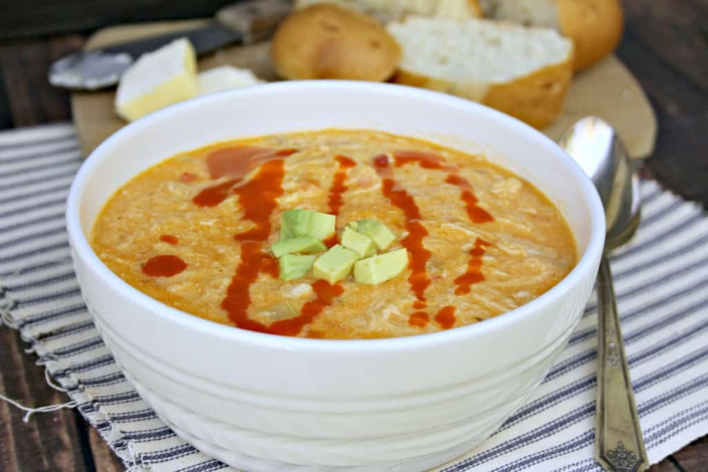 Crock Pot Buffalo Chicken Soup
