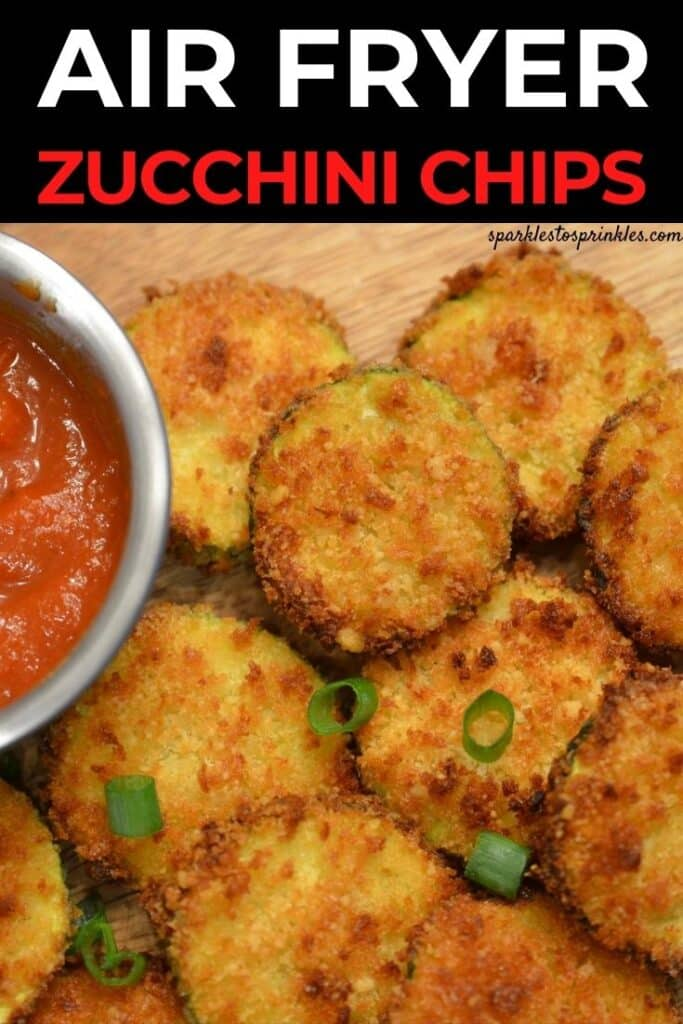 air fryer zucchini chips