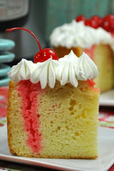 instant pot cherry vanilla poke cake