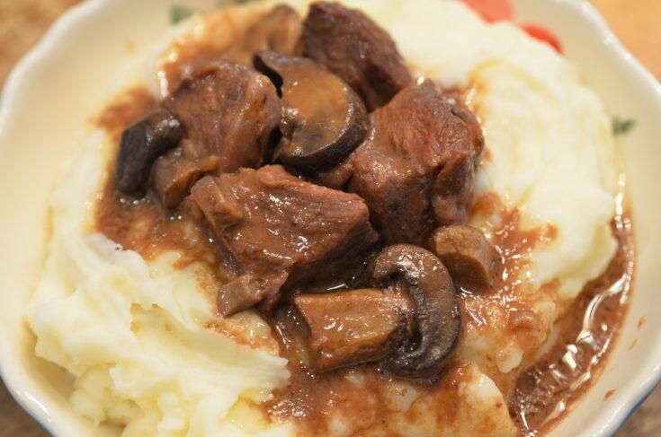 slow cooker beef tips
