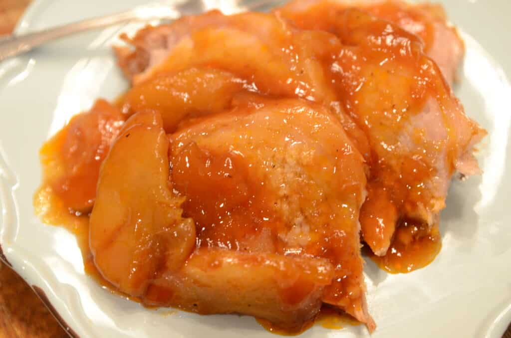 crockpot apple barbecue pork loin