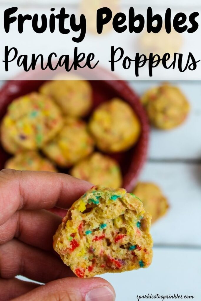 fruity pebbles pancake poppers