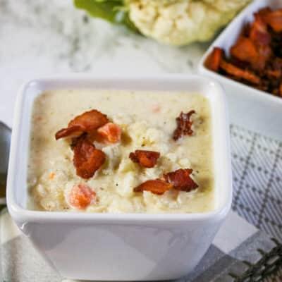 bacon cauliflower chowder