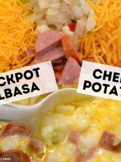 Crockpot Kielbasa Cheesy Potatoes
