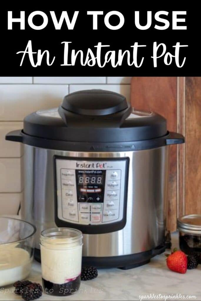 how to use an insant pot
