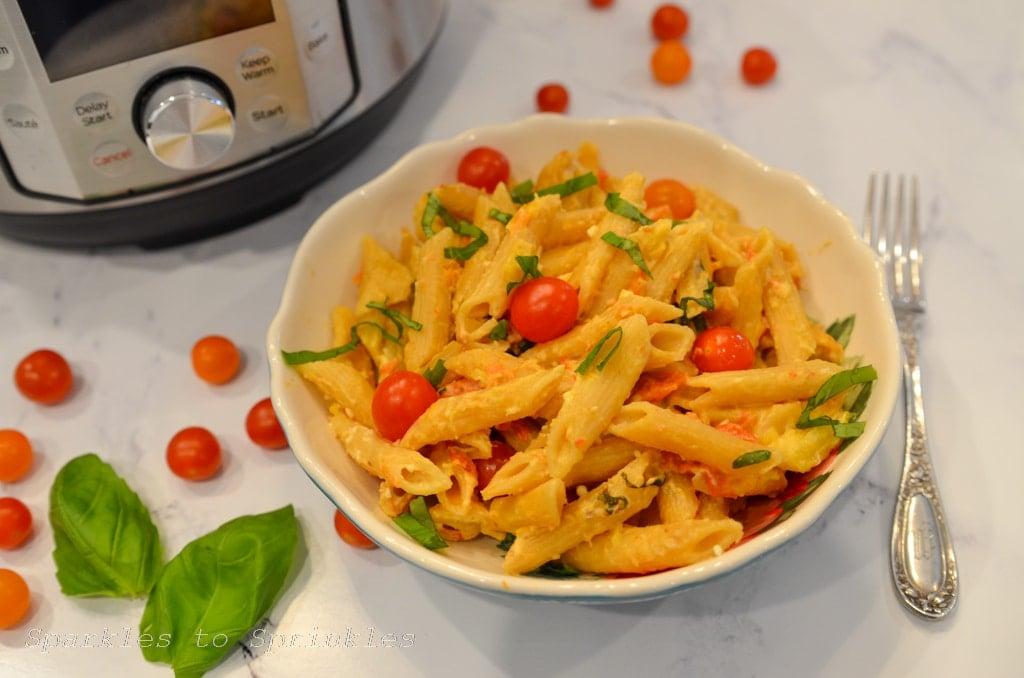 instant pot tiktok tomato feta pasta