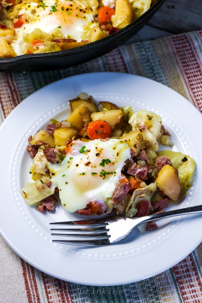 Leftover Corned Beef and Cabbage Hash