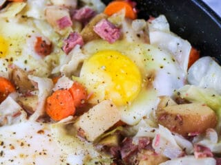 corned beef hash and cabbage
