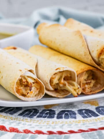 air fryer chicken taquitos