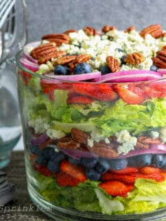layered salad with berries