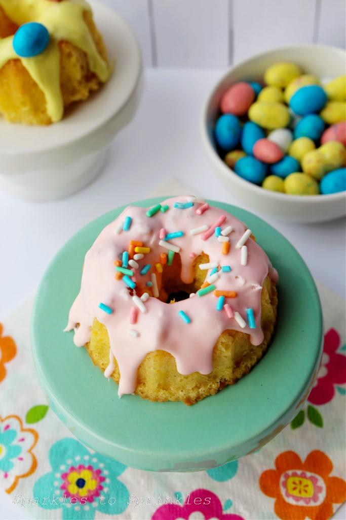 Easter Mini Bundt Cakes