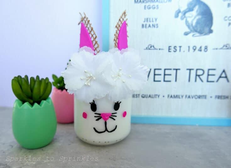 Easter Bunny Jar Craft