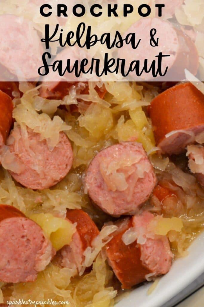 crockpot kielbasa and sauerkraut pin
