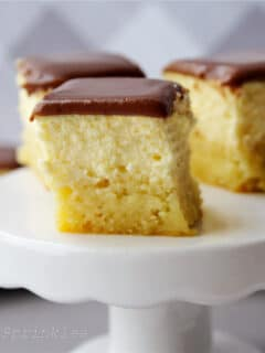 Keto Boston Cream Pie Bites